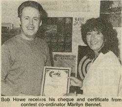 3CCC-FM songwriting contest - Bob with Marilyn Bennet