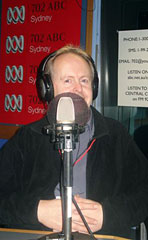Bob Howe at ABC Radio 702 in Sydney