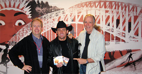 Bob Howe, Lee Kernaghan and John Nutting - 2am in the 'green room' at ABC Radio 702 in Sydney