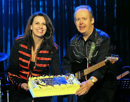 Nicki & Bob with the birthday cake