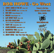Back Cover - Bob Howe - GO WEST