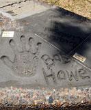 Bob's handprint