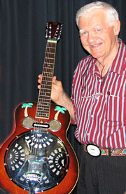Kenny Kitching with his historic dobro