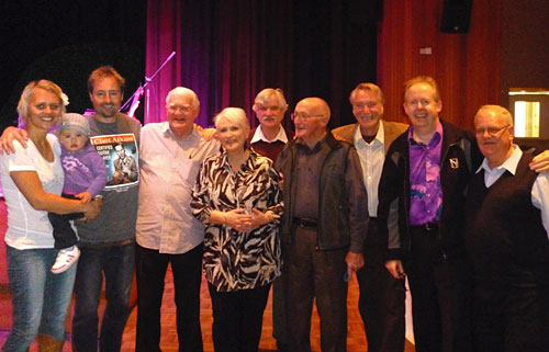 Camille Te Nahu and Stuie French with Manaia, Kenny Kitching, Emma Hannah, George Boyer, George Payne, Frank Ifield, Bob Howe, Peter Schulz