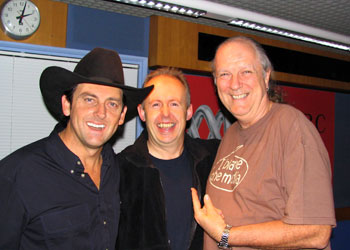 Lee, Bob, Johnno at 2am at the end of the show!