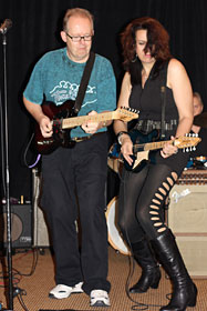 Bob and Nicki rock out