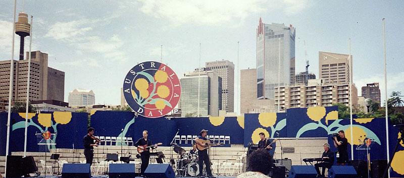 Bob Howe and Slim Dusty band Australia Day 1995