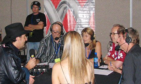 The panel interviews Lee Kernaghan, Tamworth 2008