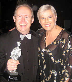 Bob Howe with presenter Susie Elelman