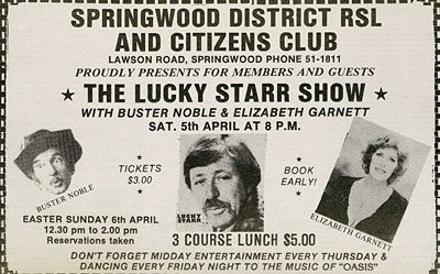 ad for Lucky Starr show