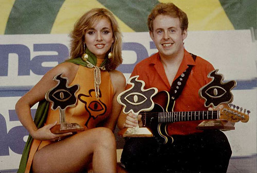 spokesmodel Nikki and Bob Howe with three FEIP awards in 1982