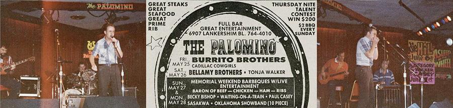Bob performs at the Palomino Club L.A. 1984