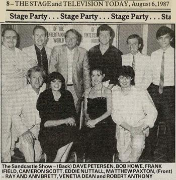 Stage newspaper cutting