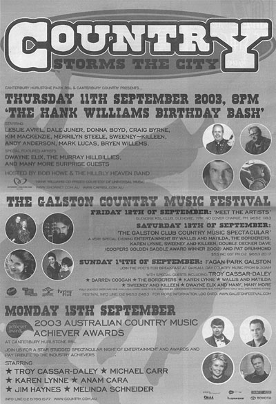 Country Weekend ad
