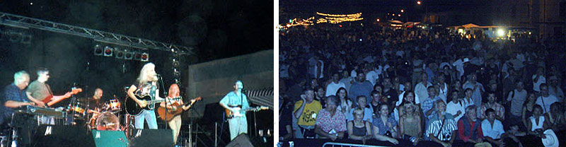 Steve Haggard band and audience at RE'AL CROCHE, July 2003
