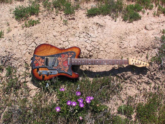 Bob's Tomkins guitar in Mildura 2005