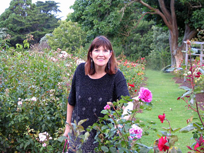 Karen in Auckland garden