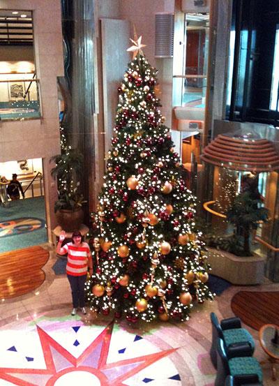 Karen and the Radiance Christmas Tree 2011