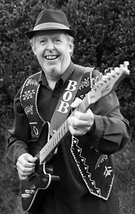 Bob with guitar, 2020