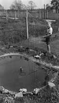 Fishing in our back garden...