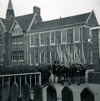 The scouts march had set off Lawrence Sheriff School