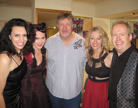 Backstage photo of NICKI, AMI, TED, STEPHANIE, BOB