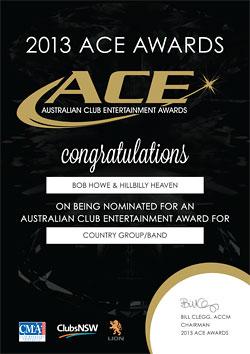 ACE 2013 certificate