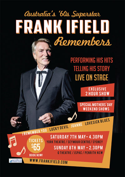 Frank Ifield Remembers poster