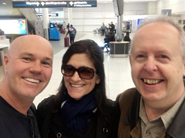 SFK, Jo and Bob at Sydney Airport