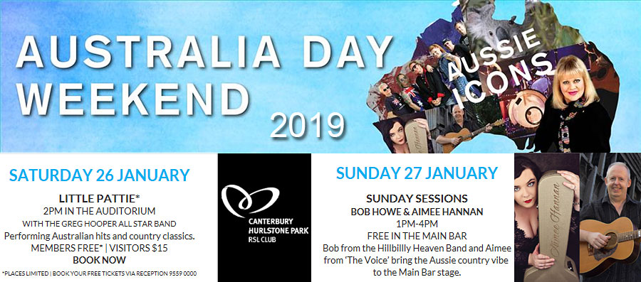 Australia Day weekend 2019 banner