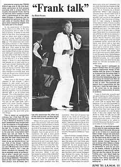 Frank Talk article - click to enlarge