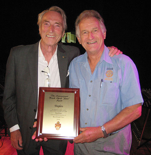Frank Ifield and Richard Young from the Rotary Club of Galston