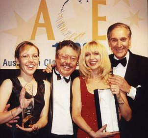 Felicity, Graham, Jane Scali and Don Lane at the ACE Awards